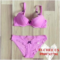 Áo ngực Victoria Secret xách tay Mỹ ren hồng