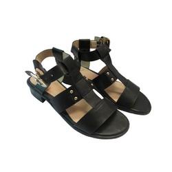 Giày sandal gót 2F màu đen