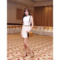 Đầm ôm body trắng sát nách cực xinh - AV3620