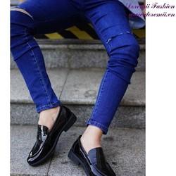 Giày da nam công sở da bóng phong cách sang trọng GDNHK172