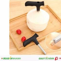 Dụng cụ khui dừa siêu nhanh cho các bạn thích uống nước dừa