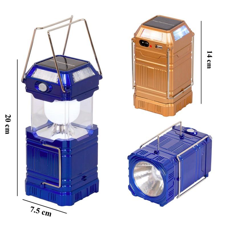 Đèn Bão Vuông 8009A Led 3 trong 1 sử dụng năng lượng mặt trời và điện 1
