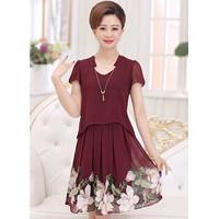Hàng nhập cao cấp- Đầm Suông Chân Váy Hoa