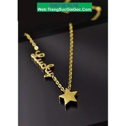 Dây chuyền ngôi sao cách điệu chữ lucky