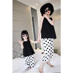 Combo bộ đồ xiteen cho mẹ và bé-TH07092