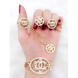 Bộ Chanel Đính Đá