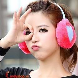 Bông chụp tai trái tim V1 candyshop88.vn