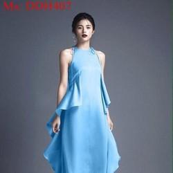 Đầm dạ hội lai bèo 2 bên cổ yếm xinh đẹp DDH407
