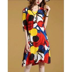 Đầm suông họa tiết - hàng nhập cao cấp - TT1001 - Order