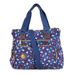 Túi xách hai hộp Kipling khỉ màu xanh đen