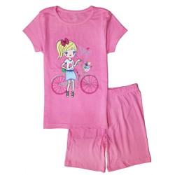 029 Bộ bé gái Place size đại - Girl and bike - Tinker Bell Kids