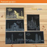 Bộ Tranh Cạo Postcard Phong Cảnh Hàn Quốc