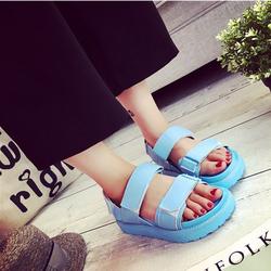 Giày Sandal nữ phong cách học sinh màu sắc nổi bật - XS0306