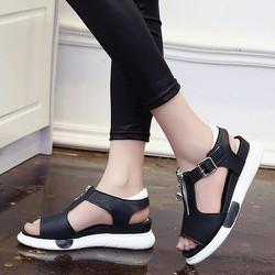 Giày sandal nữ khóa kéo cá tính S025D