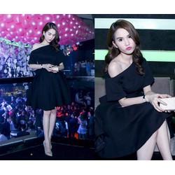 Đầm xòe trễ vai tay ngắn Ngọc Trinh quyến rũ - AV3939