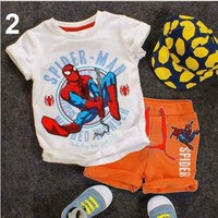 Bộ thun quần da cá Spider Man cho bé trai MV113