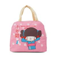 Túi giữ nhiệt xinh xắn cô gái Nhật loại dày cực cute - Hồng...