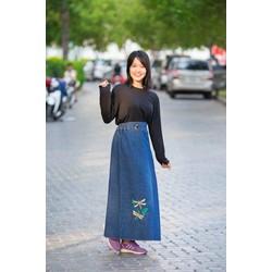 Váy Chống Nắng JEAN Cao Cấp KOREA - Chuồn chuồn đôi