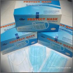 Combo 3 hộp khẩu trang y tế PROTECT MASK 3 lớp màu xanh