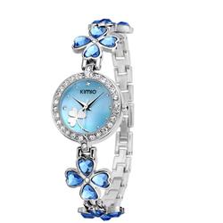Đồng hồ nữ Kimio dây đeo gắn cỏ bốn lá may mắn AL36 ,