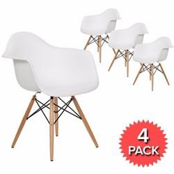 Set 4 ghế DAW Eames cao cấp nhập khẩu