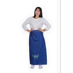 Váy Chống Nắng JEAN Cao Cấp KOREA - Hoa xanh