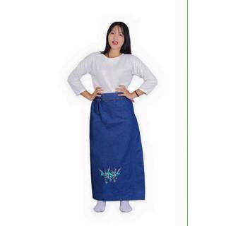 Váy Chống Nắng JEAN Cao Cấp KOREA - Hoa xanh - 009 thumbnail