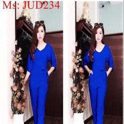 Jum dài tay thắt eo màu xanh trẻ trung xinh đẹp JUD234