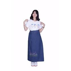 Váy Chống Nắng JEAN Cao Cấp KOREA - Hoa Liti