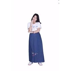 Váy Chống Nắng JEAN Cao Cấp KOREA - Cánh bướm