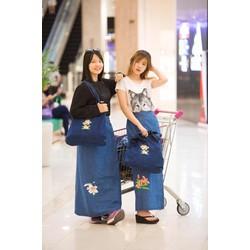Váy Chống Nắng JEAN Cao Cấp KOREA - Loa kèn trắng