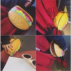 Túi xách đeo chéo dây xích Hamburger - Giá Cực sốc