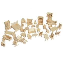 Bộ đồ chơi lắp ghép 3D nội thất gia đình