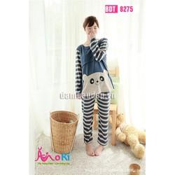 Bộ đồ bầu mặc nhà - Bộ dài gấu trúc vằn - BDT8275