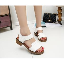 Giày sandal nữ da mềm êm chân dáng thanh lịch màu trắng