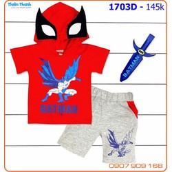 Bộ bé trai Batman tặng kiếm da thật ngầu cho bé