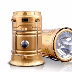 Đèn sạc năng lượng mặt trời 3in1 - Đen - Vàng Đồng