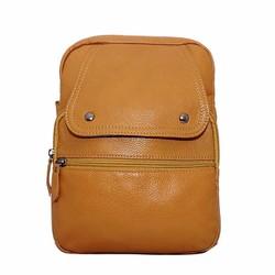 Túi ba lô nữ da bò thật ELMI màu vàng đậm ETM368