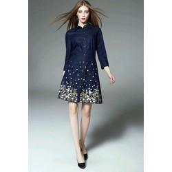 Đầm jean thêu hoa - hàng nhập cao cấp - TT1004 - ORDER