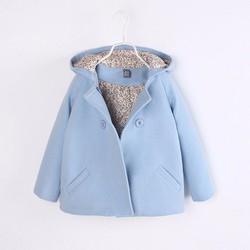Áo dạ thời trang màu xanh dương 3 lớp loại dày