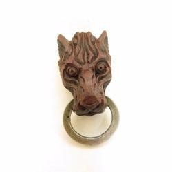 mặt sói khắc gỗ thủ công