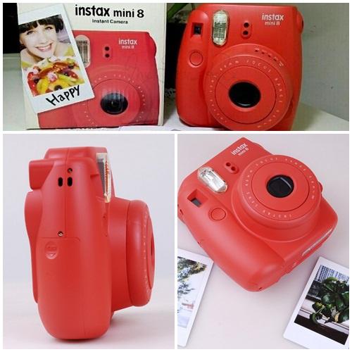 Máy chụp ảnh lấy ngay Instax Mini 8 màu đỏ Rasberry 1
