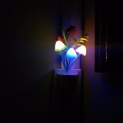 Đèn ngũ cảm ứng,đổi màu, hình nấm