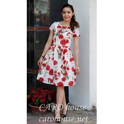 Đầm hoa cẩm chướng