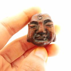 Mặt Phật cười khắc gỗ thủ công
