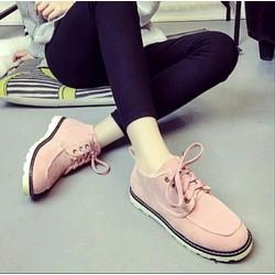 Giày Boot Nữ Màu Hồng G923-H