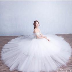 Váy cưới công chúa trắng - M536