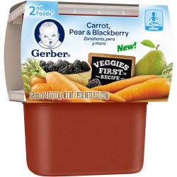 Trái cây nghiền Gerber Cà rốt,lê,dâu tằm
