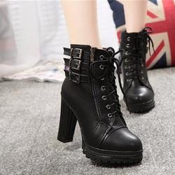 Giày boot da cao cấp B012