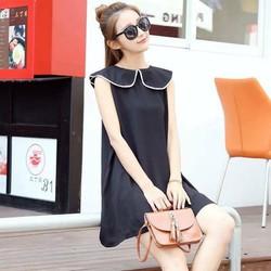 Đầm suông viền phối nơ thiết kế